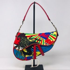 Christian Dior Bob Marley Saddle Bag John Galliano